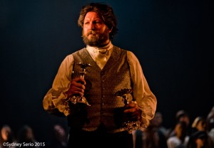 Lee Lewis as Jean Valjean in Les Miserables at Milburn Stone Theatre