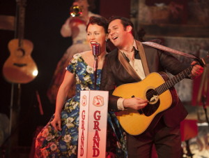 Katie Barton and Ben Hope in Ring of Fire: The Music of Johnny Cash at Infinity Theatre Company