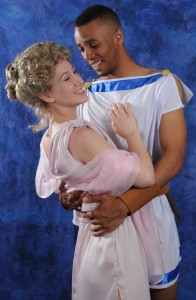 Molly Janiga (left) as Philia and Hasani Allen (right) as Hero