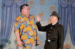 Chip Meister (left) as Walter Hollander and John Rowe (right) as Krojack