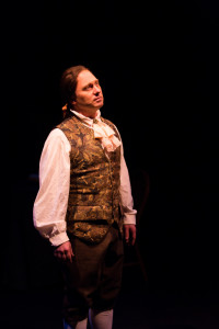 Jeffrey Shankle as John Adams in 1776 at Toby's Dinner Theatre