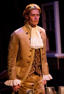 Brendan McMahon as Thomas Jefferson in 1776 at Toby's Dinner Theatre