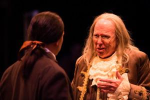 Jeffrey Shankle as John Adams (left) and John Stevenson as Ben Franklin (right)