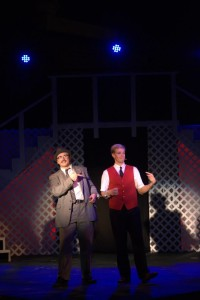 Joshua Mooney (left) as Carl Hanratty and Ron Giddings (right) as Frank Abagnale Jr.