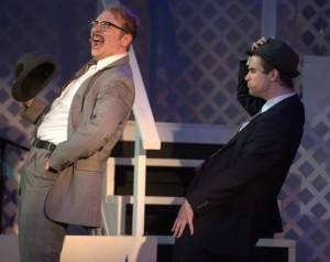 Joshua Mooney (left) as Carl Hanratty and Fred Fletcher-Jackson (right) as Agent Branton