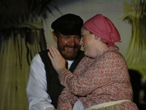 Mo Dutterer as Tevye (left) and Robyn Bloom as Golde (right)