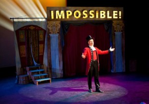 Mark Jaster as the Ring Master at Impossible! A Happenstance Cirucs