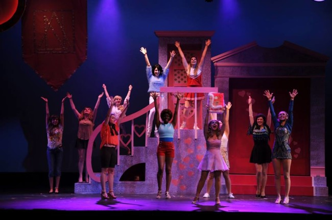 The Daughters of Delta-Nu in Legally Blonde