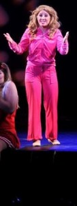 Victoria Meyers as Elle Woods in Legally Blonde at Montgomery College Summer Dinner Theatre