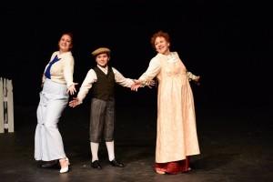 Melissa Ann Martin (left) as Marian Paroo, Logan Dubel (center) as Winthrop and Christine Thomas (right) as Mrs. Paroo