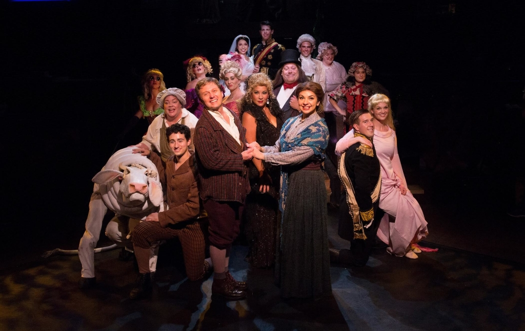 The Company of Into the Woods at Toby's Dinner Theatre