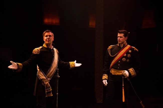 Justin Calhoun (left) as Rapunzel's Prince and Jonathan Helwig (right) as Cinderella's Prince