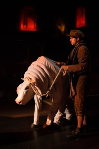 Alex Beveridge (left) as Milky White and Jimmy Mavrikes (right) as Jack