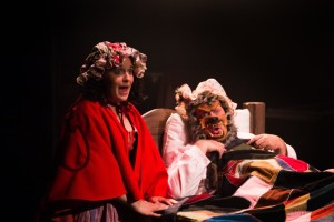 Sophie Schulman (left) as Little Red Ridinghood and Lawrence B. Munsey (right) as The Big Bad Wolf