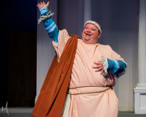 Ted Cregger in A Funny Thing Happened on the Way to the Forum at Milburn Stone Theatre