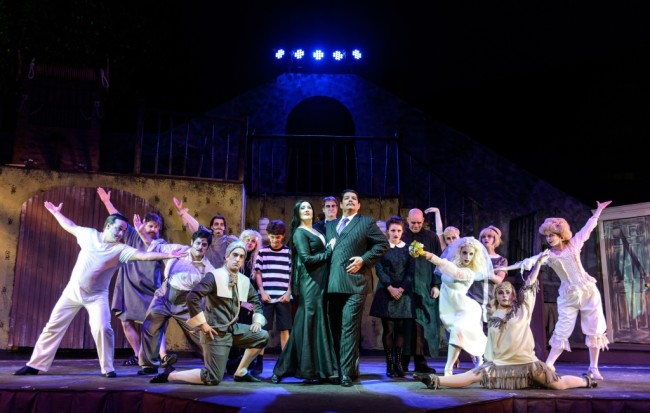 The Company of The Addams Family at Annapolis Summer Garden Theatre