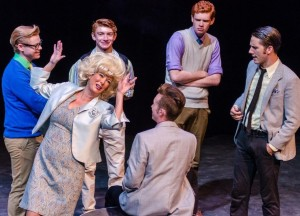 Velma Von Tussle (center- Michele Guyton) and the boys of the Corny Collins Show