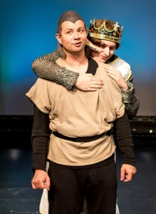Paul Brinkley (right) as Hubert of Angiers and Evan Ockershausen (left) as King John