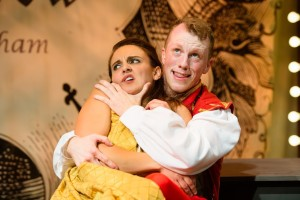 "Paul Scanlan and Karen Vincent in ""Kiss Me Kate"" at NextStop Theatre"