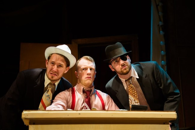 "Kevin Place, Paul Scanlan, and Drew Stairs in ""Kiss Me Kate"" at NextStop Theatre"