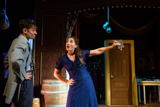"Stephen Russell Murray and Emily Levey in ""Kiss Me Kate"" at NextStop Theatre"