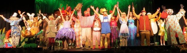 "The fairytale ensemble of Shrek the Musical performing ""Story of My Life"""