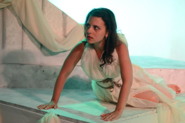 Cassandra (Ren Pepitone), is a Haunted Oracle in Glass Mind Theatre's The Pretties
