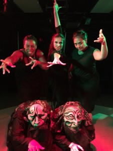(top row L to R) The Witches: Lakeisha Harrison, Vivian Allvin, and Tara Cariaso. (bottom row) Shadow Witches: Jennifer Berry and Leticia Monet