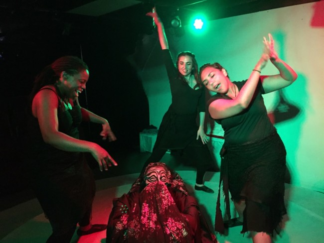 The performers of Witches Vanish by Claudia Barnett at Venus Theatre