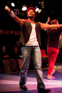 Darnell Davis as Matthew in Altar Boyz at Spotlighters Theatre