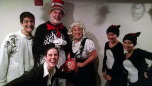 The cast of The Cat in the Hat after their show at MET