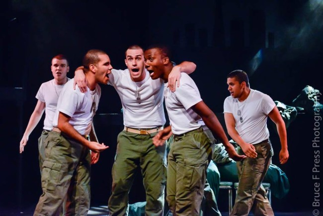 The Marines of Dogfight at Red Branch Theatre Company