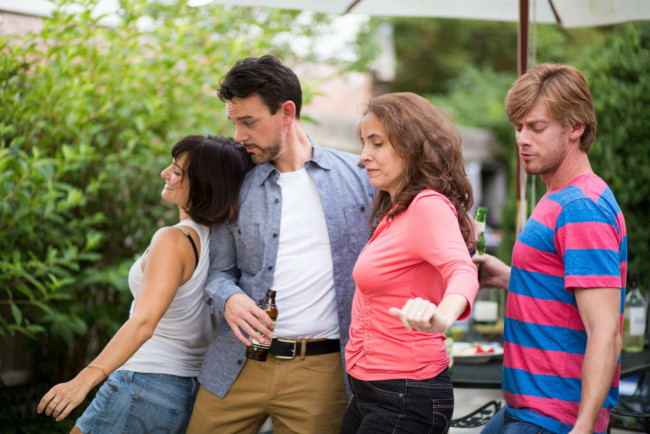 (L to R) Rachel Roth as Sharon, Greg Jericho as Ben, Beth Weber as Mary, and David Shoemaker as Kenny in Detroit at FPCT