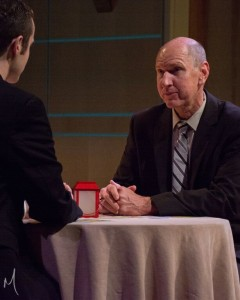 Phil Hansel as Tom Duffy in Farragut North at Milburn Stone Theatre