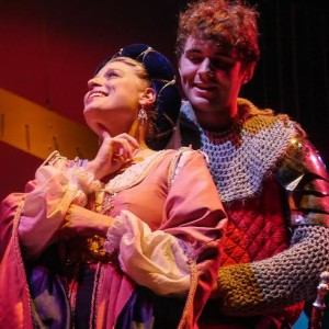 Lady Larken (Erin Paluchowski) is in love with Sir Harry (John Culhane)