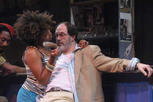 Jade Wheeler (left) as Josephine and Bruce Randolph Nelson (right) as Harari in Ruined at Everyman Theatre