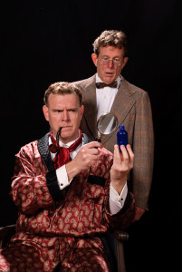 Jim Gallagher (left) as Sherlock Holmes and Nick Beschen (right) as Dr. Watson in Sherlock's Last Case
