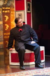 Connor Moore as Herbert, a fair young curate in A Sensation Novel at Spotlighters Theatre