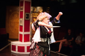 Evangeline Ridgaway as Lady Rockalda, The Yellow-Haired Panther in A Sensation Novel at Spotlighters Theatre