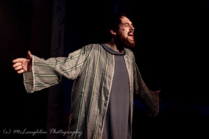 Ryan Burke as Judas in Jesus Christ Superstar at Kensington Arts Theatre