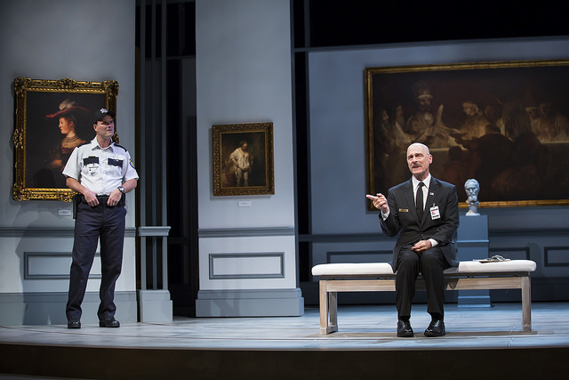 Tim Getman (left) as Johnny and Mitchell Hebert (right) as Henry in The Guard at Ford's Theatre