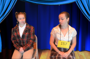 Emily Wesselhoff (left) as Logainne Schwarzandgrubenier, and Emily Morgan (right) as Marcy Park