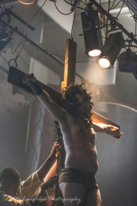 Jesse D. Saywell as Jesus in Jesus Christ Superstar at Kensington Arts Theatre