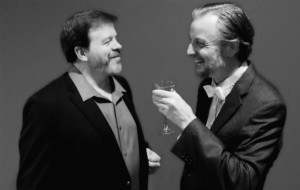 Thom Eric Sinn (left) as Jerry and Gareth Kelly (right) as Robert in Betrayal at Fells Point Corner Theatre