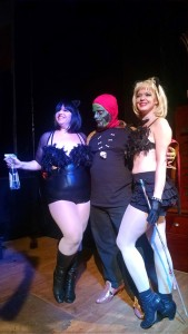 Tapitha Kix (left) Hot Todd Lincoln (center) as Sammy Terry and Lady Whiskers (right) at Brassieres of Terror