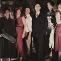 (L to R) Happenstance Theater Company's Cabaret Noir featuring Karen Hansen, Sabrina Mandell, Mark Jaster, Alex Vernon, Sarah Olmsted Thomas, and Gwen Grastorf