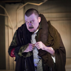 Jack Evans as The Creature in Frankenstein at Maryland Ensemble Theatre