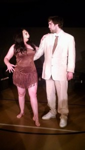 Jenny Leise (left) as Puma-Woman and Ethan Croll (right) as Edward Prendick