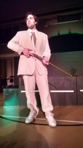 Ethan Croll as Edward Prendick in The Island of Doctor Moreau at Twin Beach Players