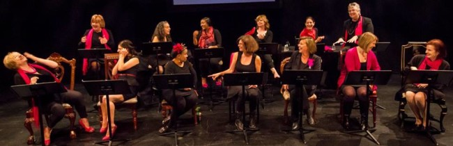 One of the three opening weekend casts of Love, Loss, and What I Wore at Arts Collective@HCC